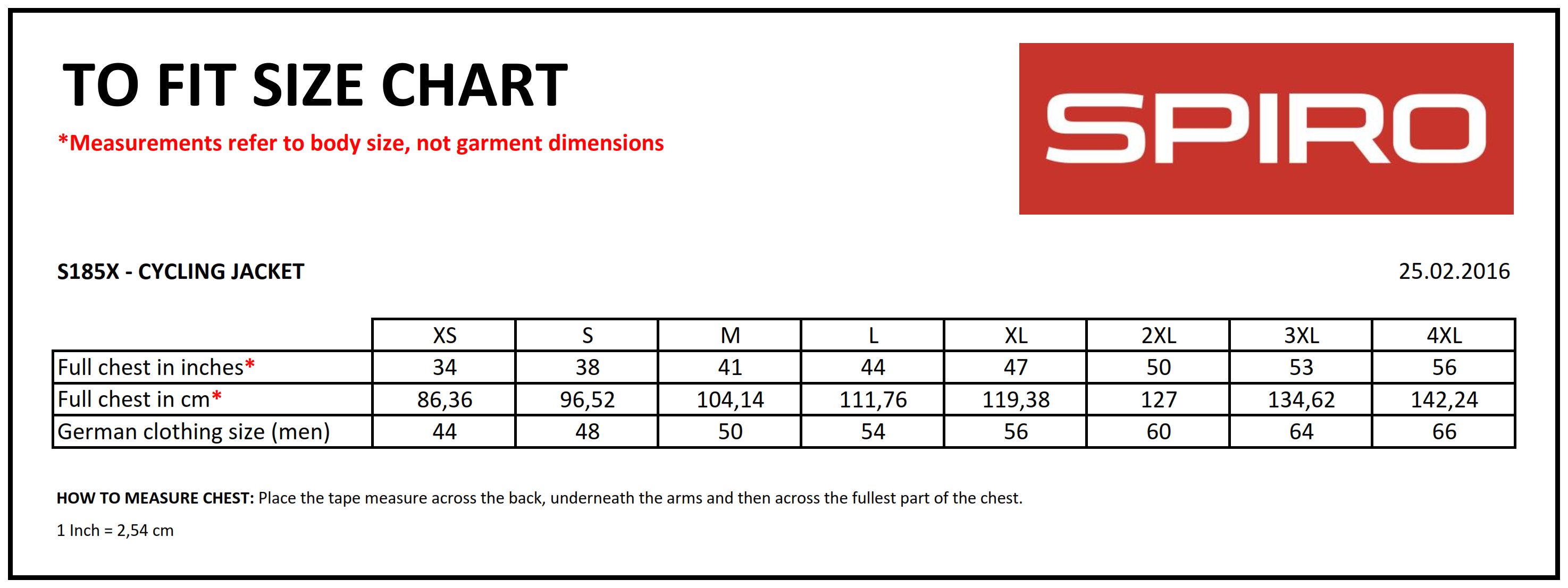 Result: Spiro Cycling Jacket S185X