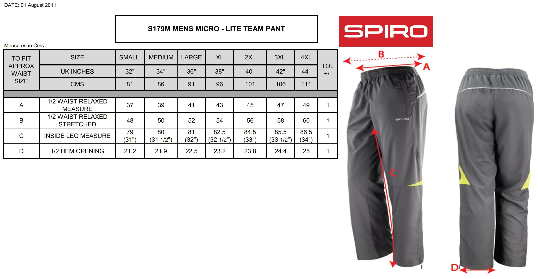 Result: Spiro Men Micro Lite Team Pant S179M