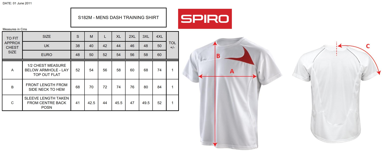 Result: Spiro Men Dash Training Shirt R182M