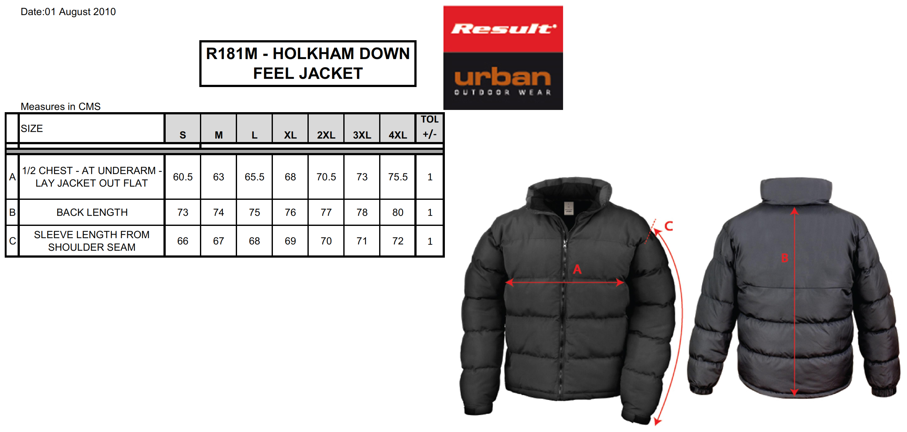 Result: Holkam Down Feel Jacket R181M