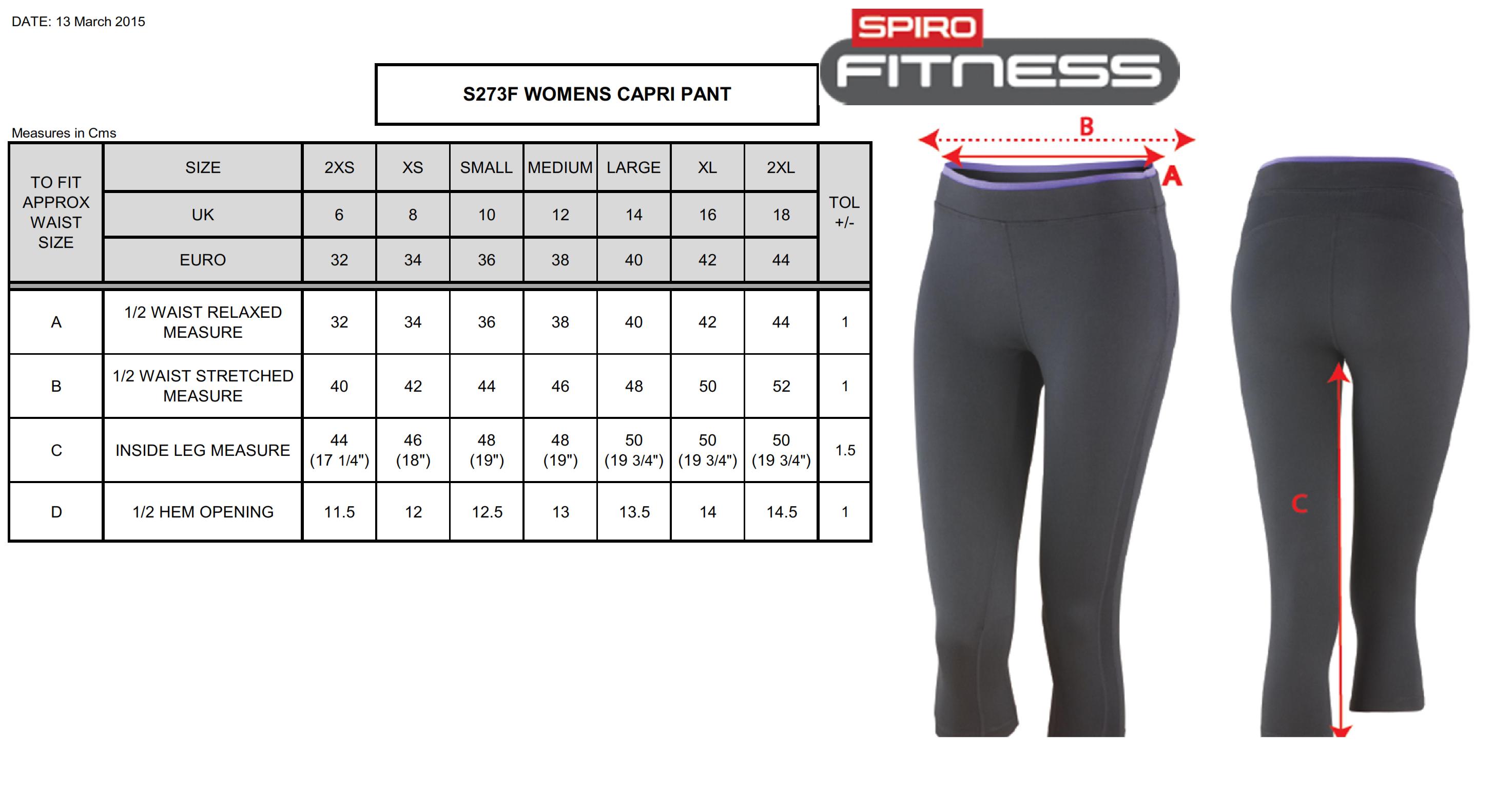 Result: Fitness Women`s Capri Pant S273F