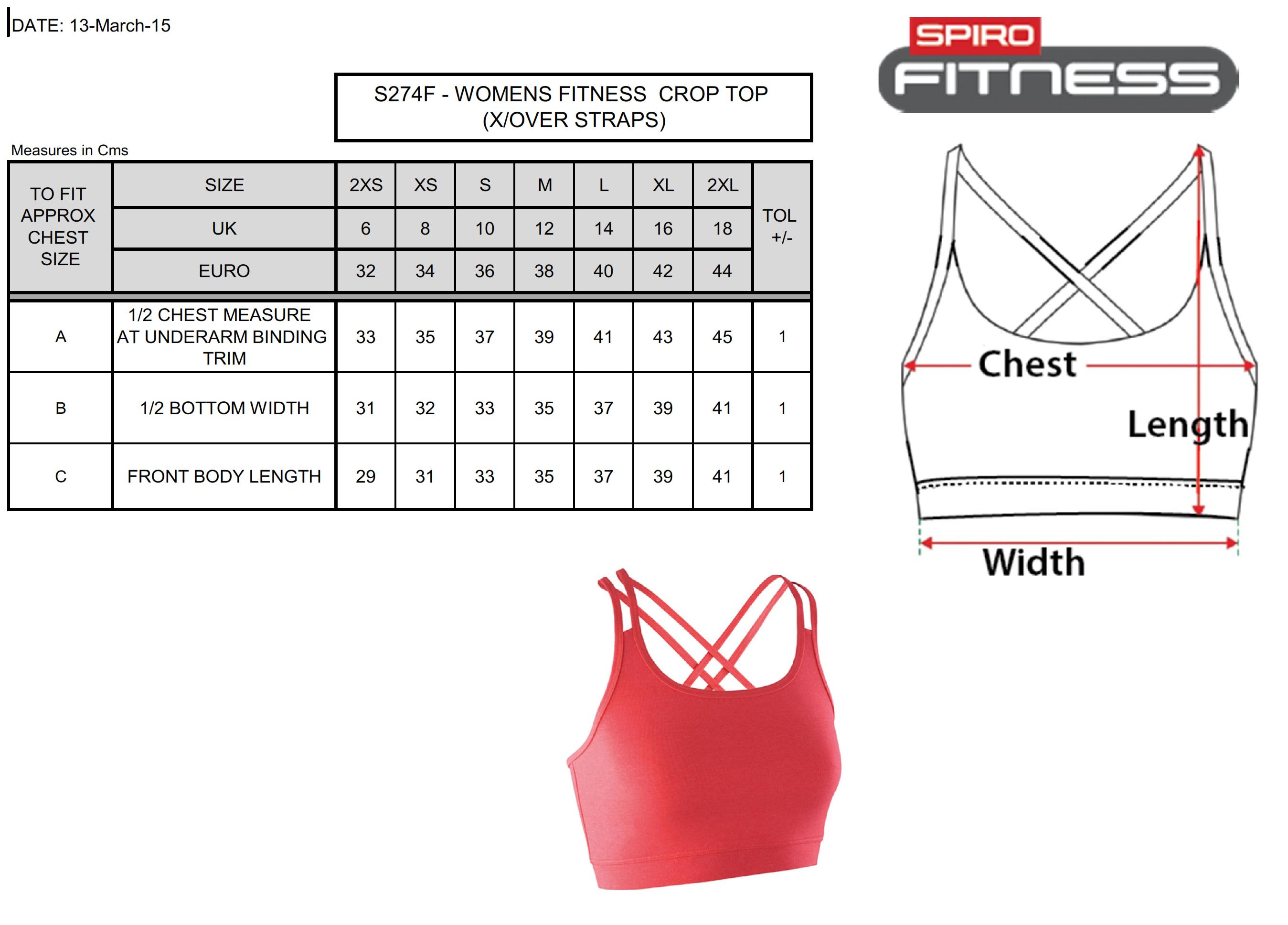 Result: Fitness Women`s Crop Top S274F