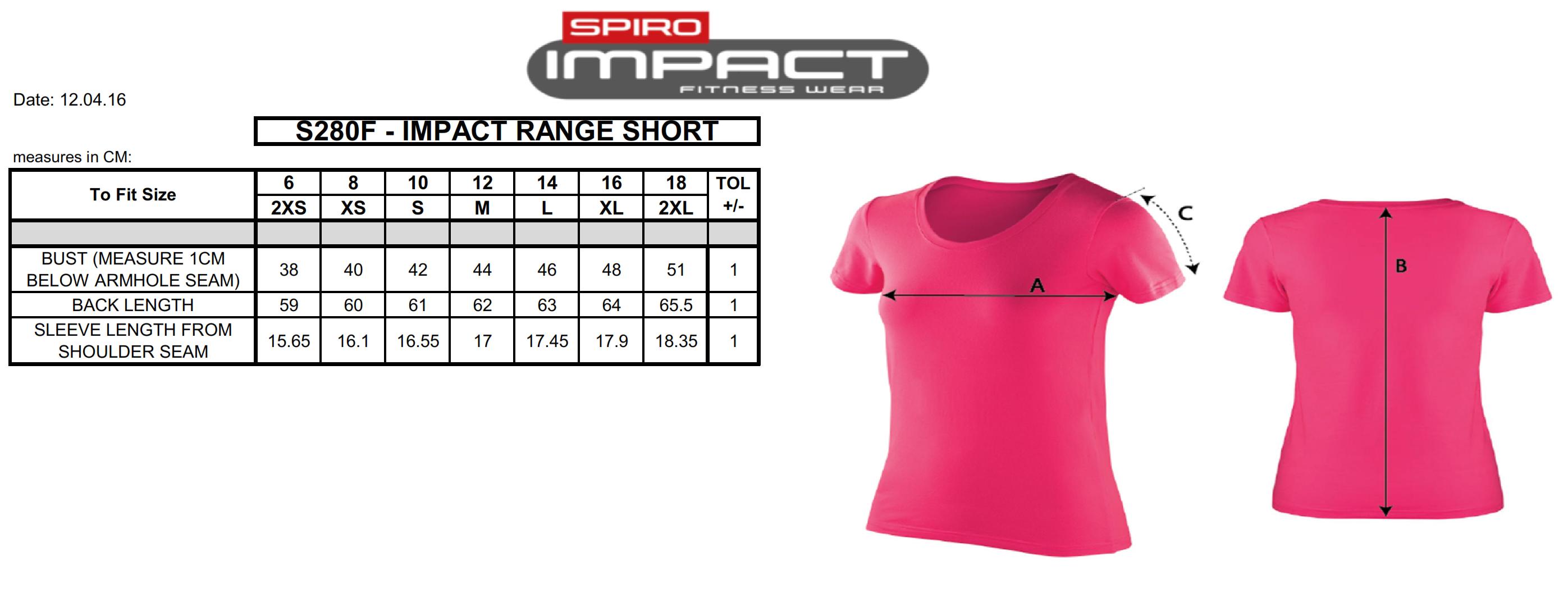 Result: Women`s Impact Softex T-Shirt S280F