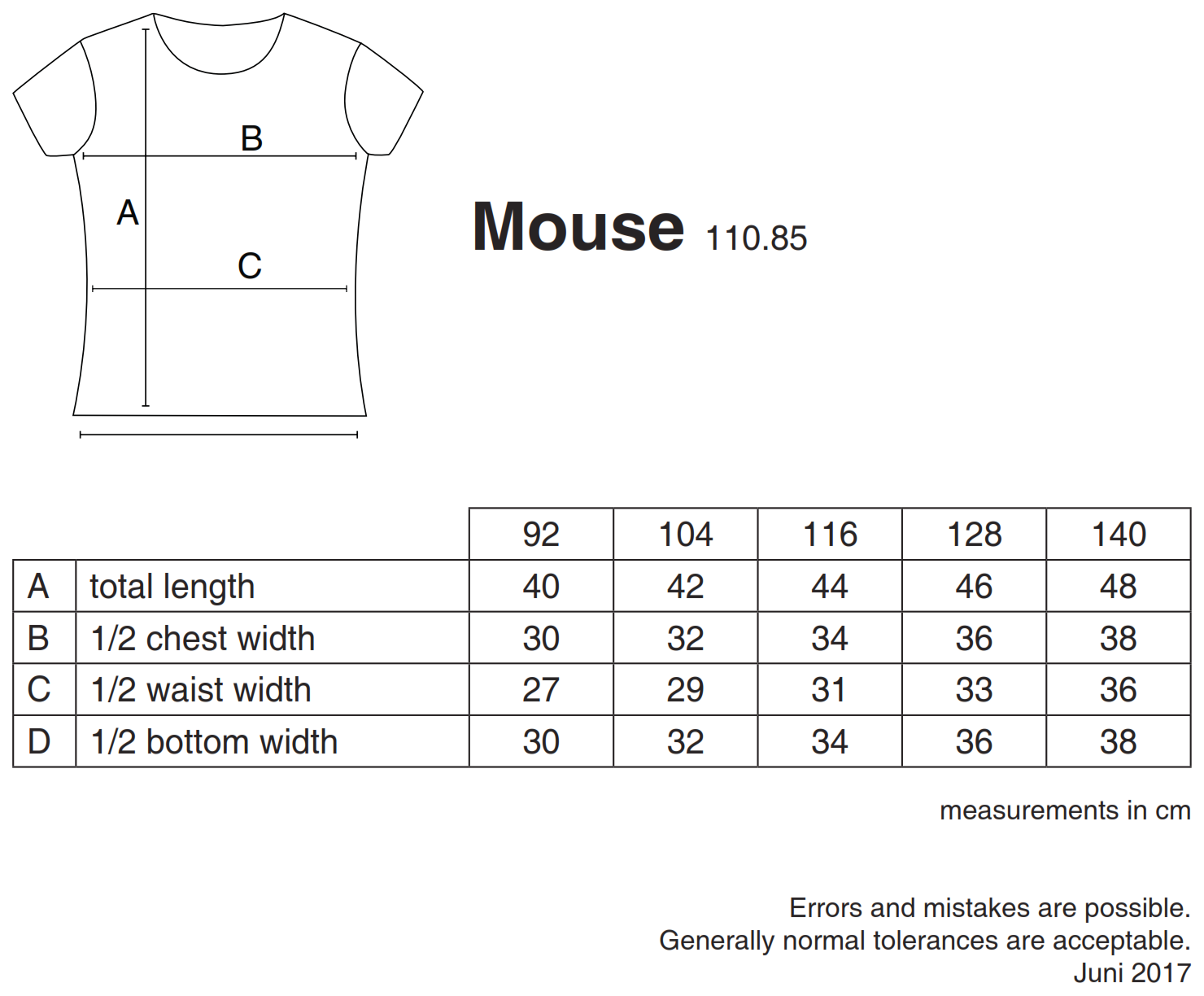 nakedshirt: Mouse Girl`s Fashion T-Shirt TK-SSL-R-CO001