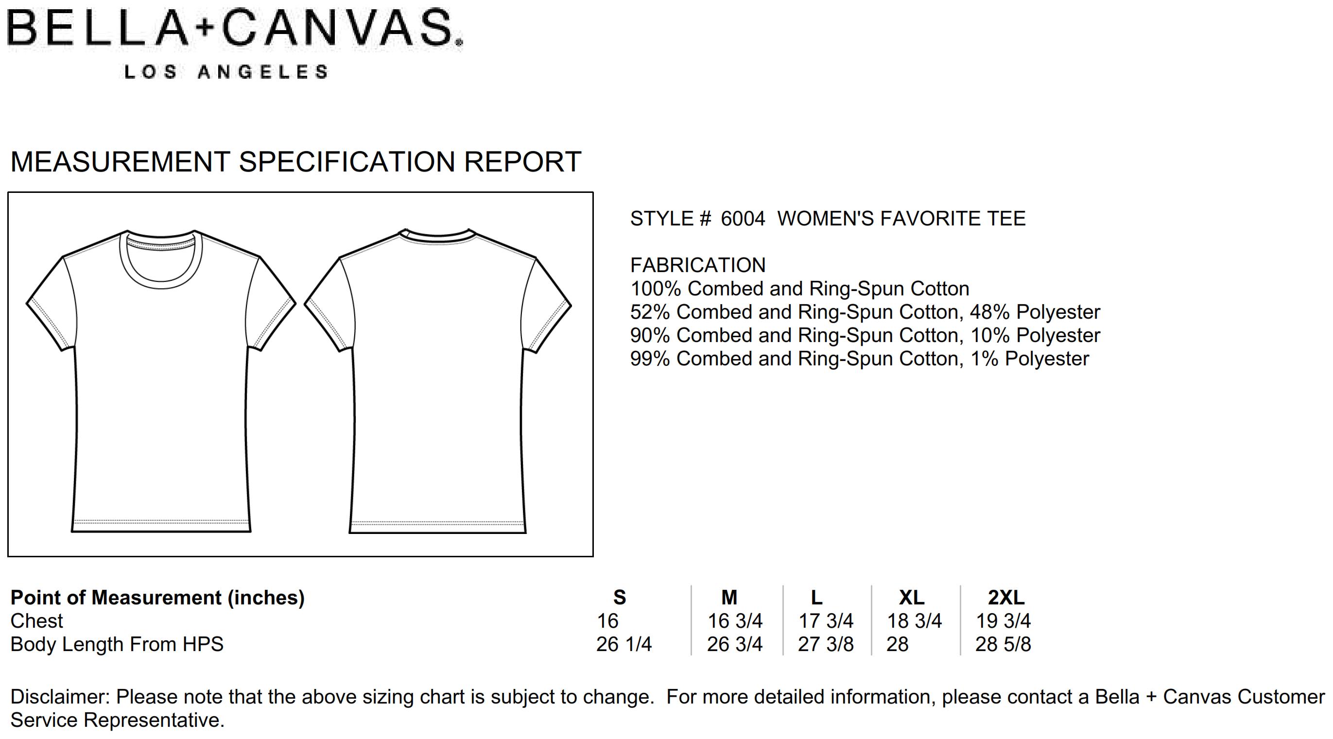 Bella+Canvas: The Favorite T-Shirt 6004
