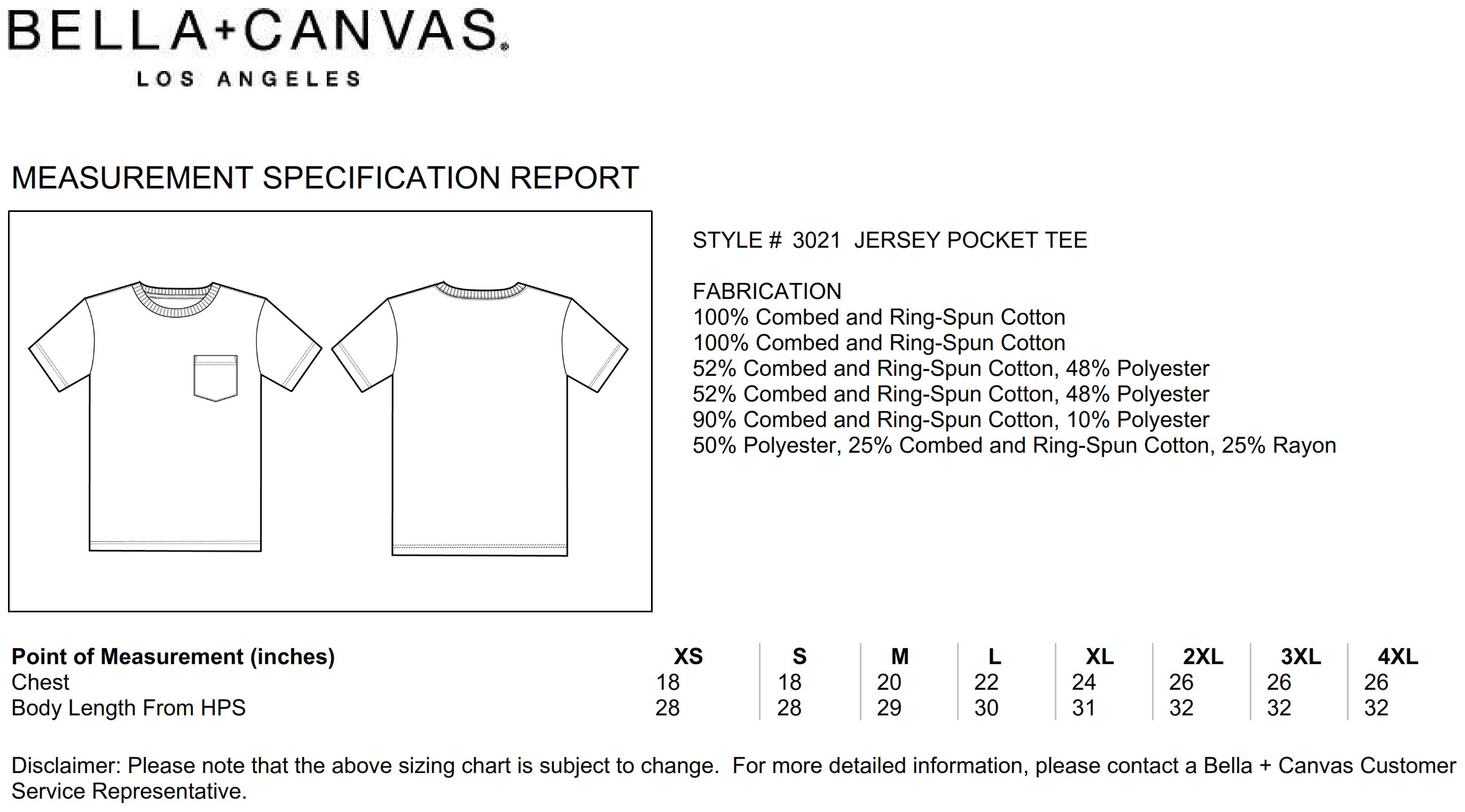 Bella+Canvas: Men`s Jersey Pocket T-Shirt 3021