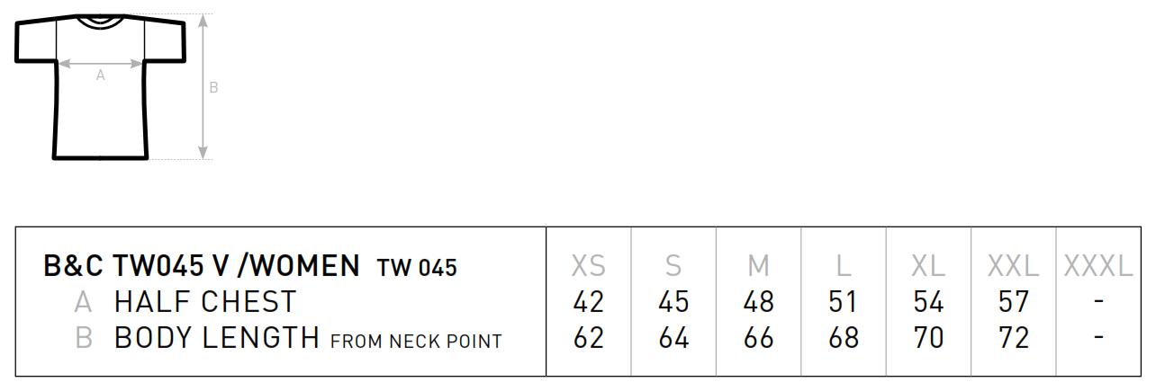 B&C: V-Neck T-Shirt Women TW045