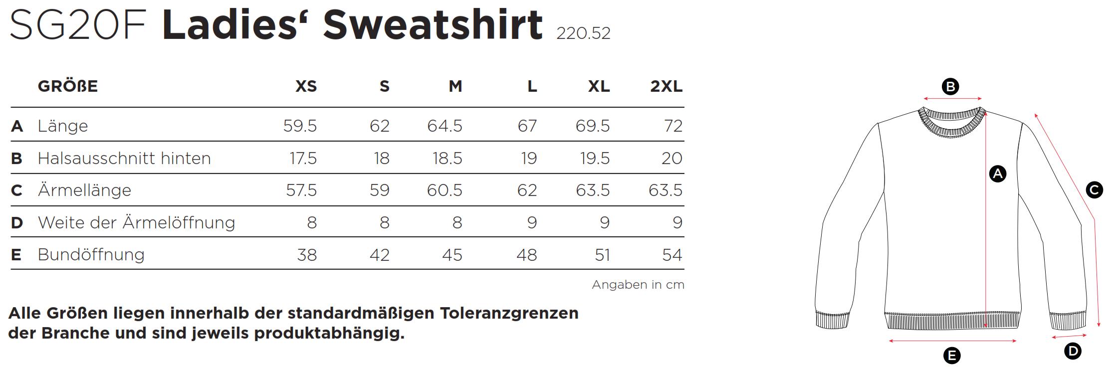 SG: Ladies` Sweatshirt SG20F