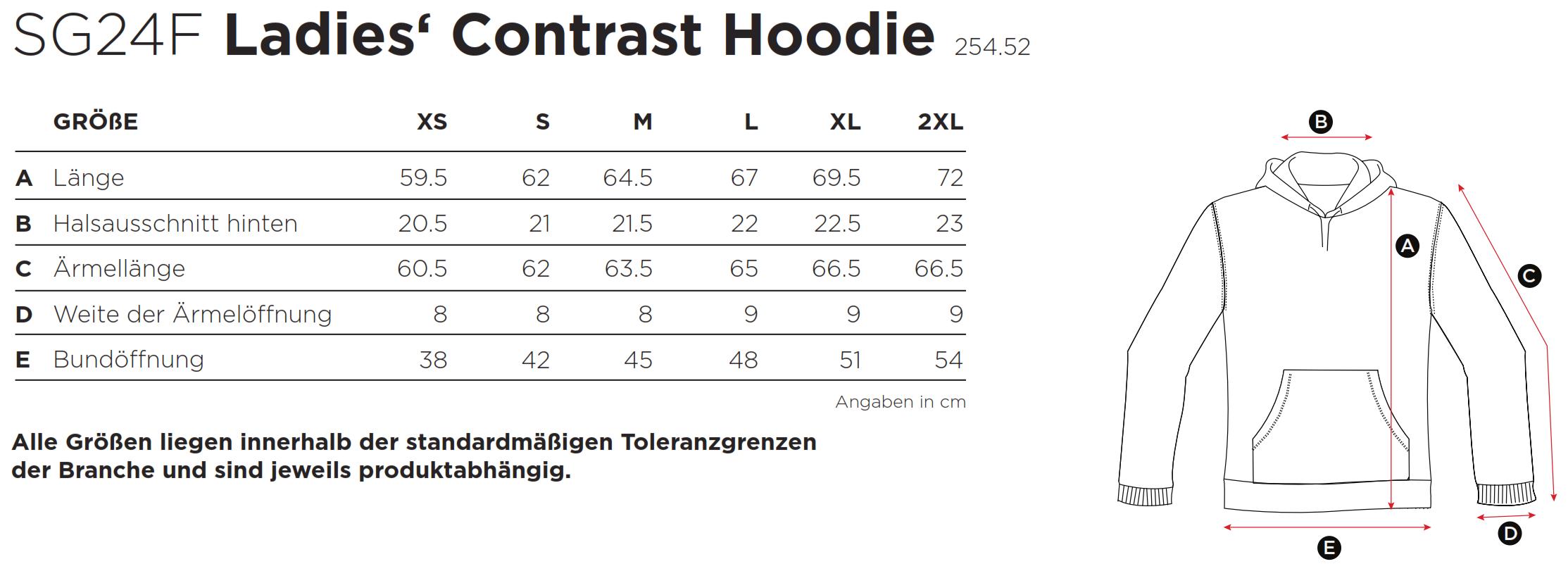 SG: Ladies` Contrast Hoodie SG24F