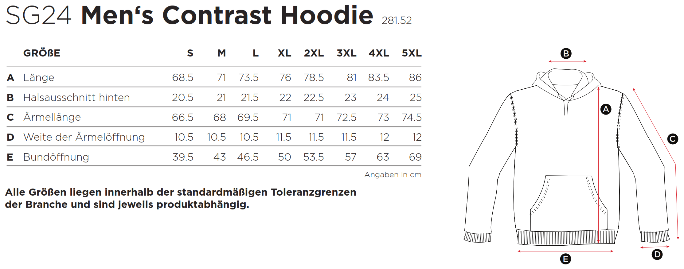 SG: Contrast Hoodie SG24