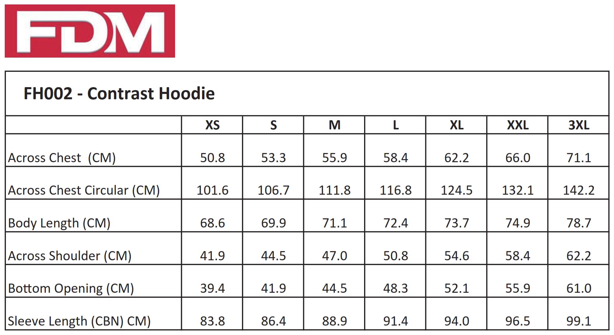 FDM: Contrast Hoodie FH002