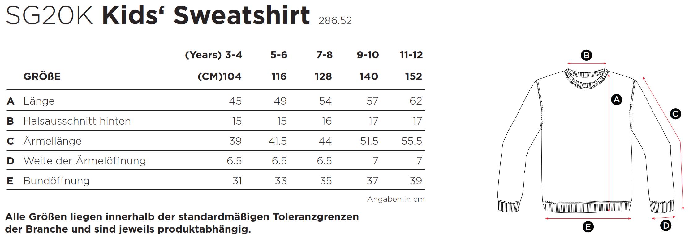 SG: Kids` Sweatshirt SG20K