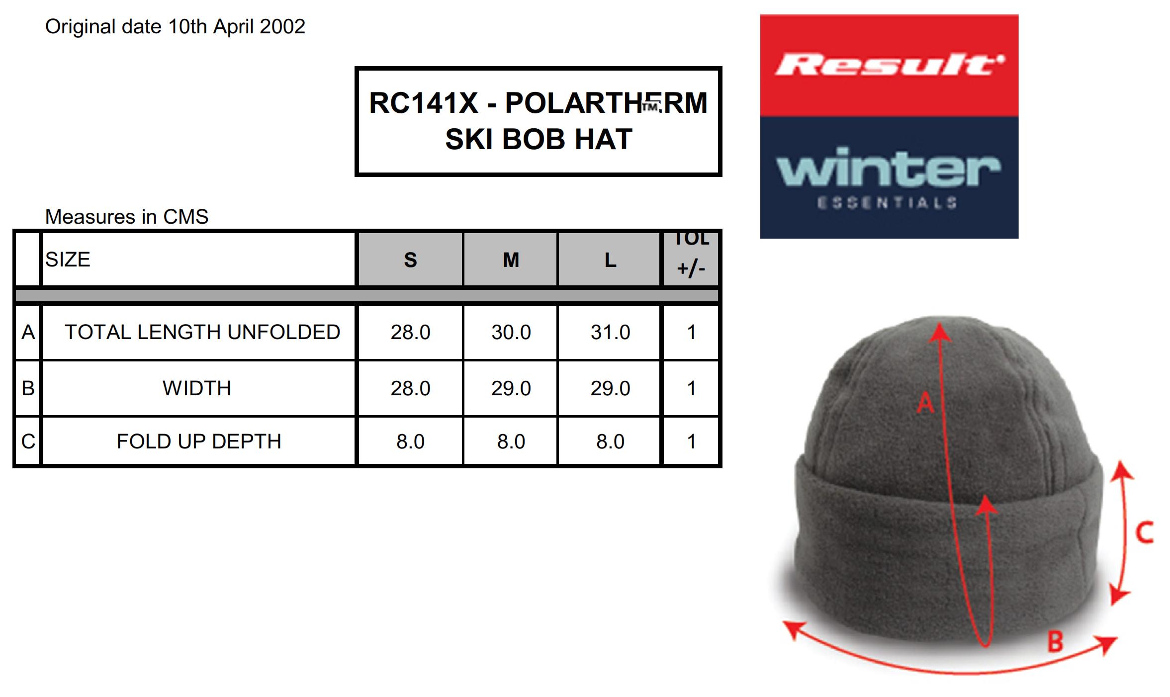 Result Caps: Fleece Skimütze RC141X