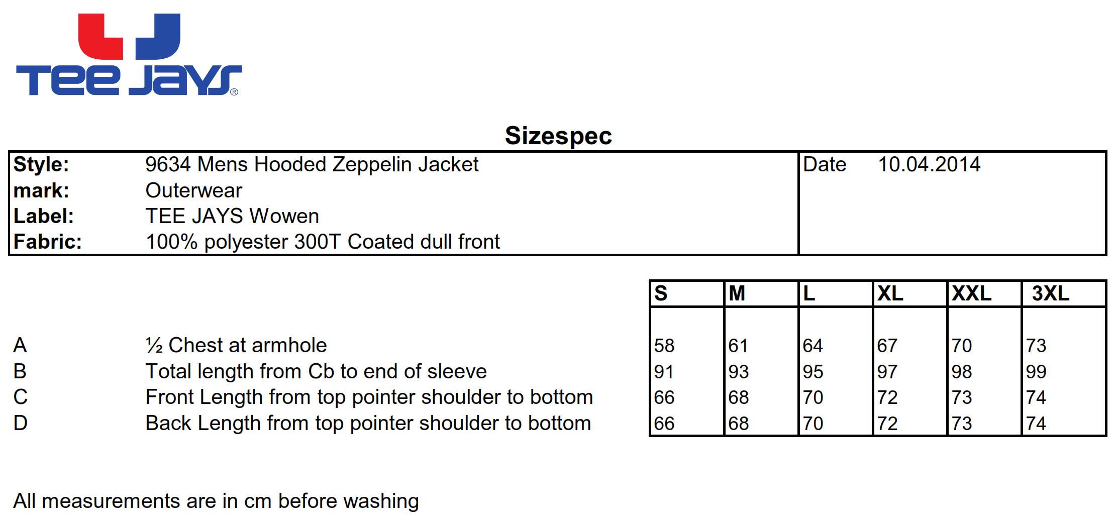 Tee Jays: Hooded Zepelin Jacket 9634