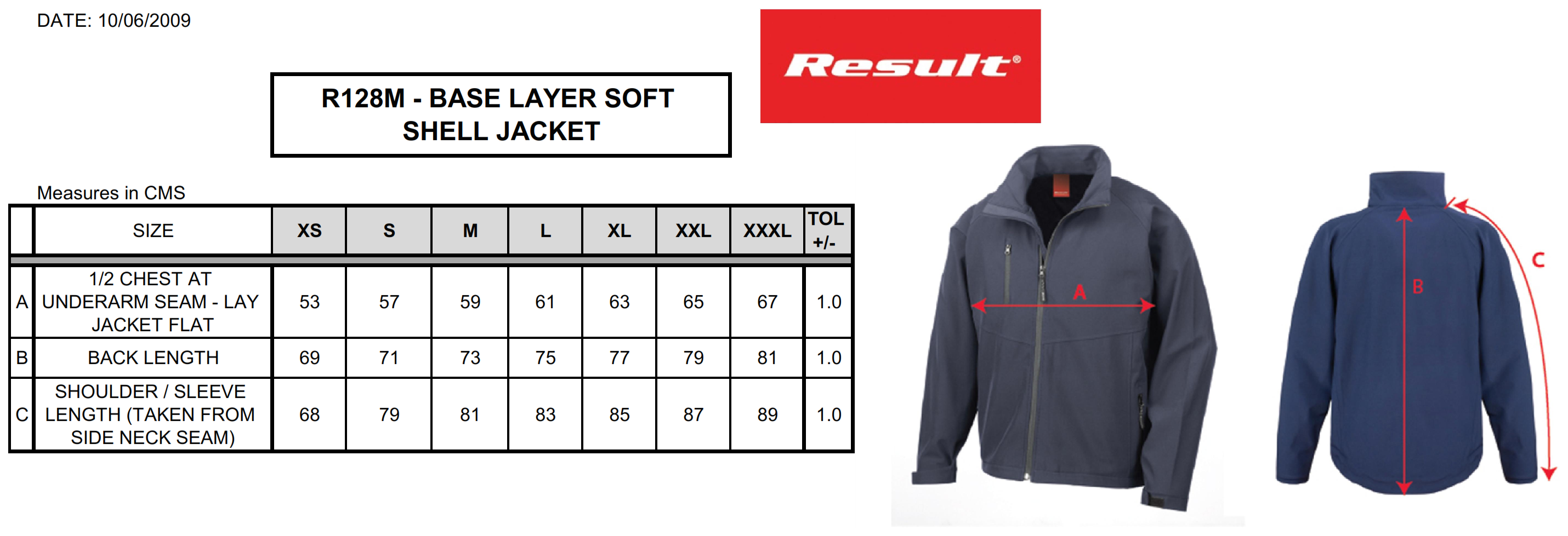 Result: Base Layer Soft Shell R128M