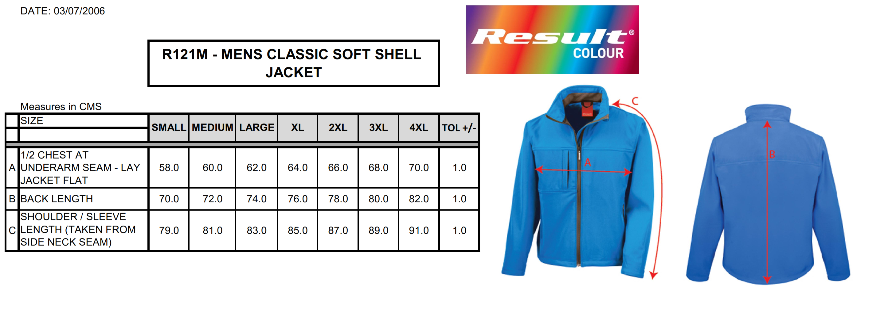 Result: Classic Soft Shell Jacket R121M