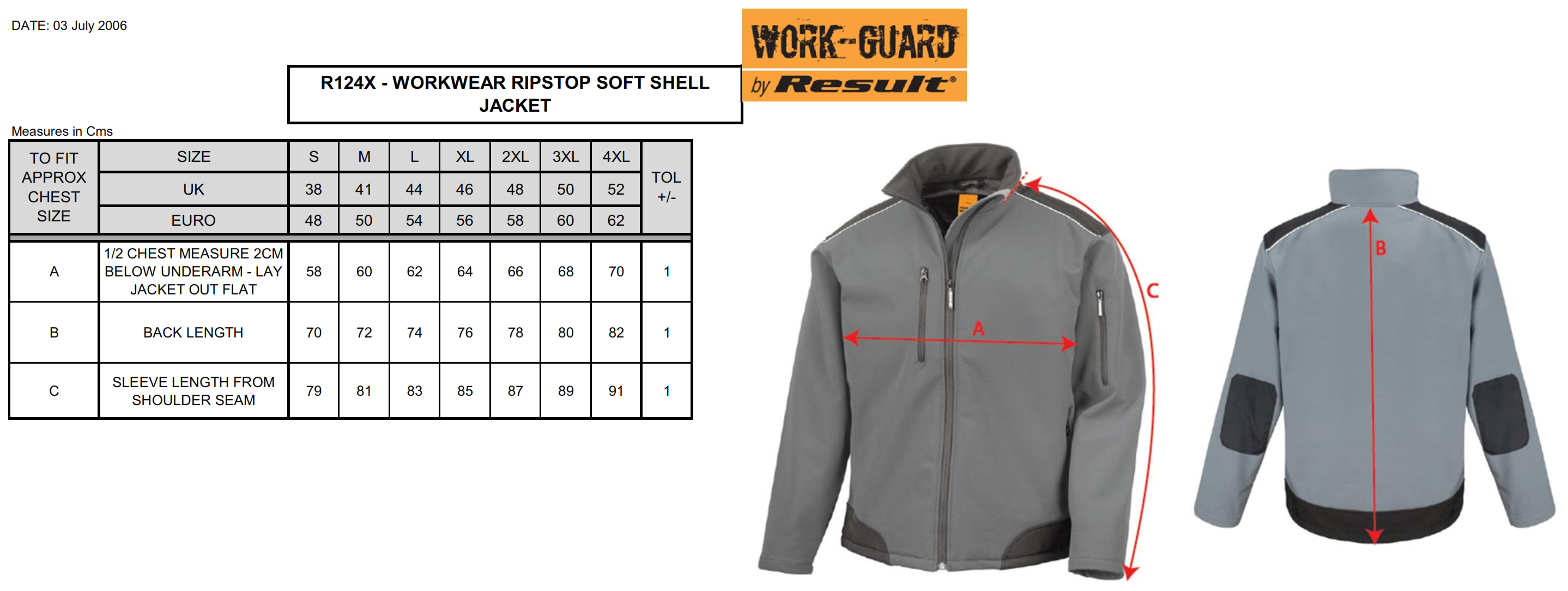 Result: Ripstop Soft Shell Work Jacket R124X
