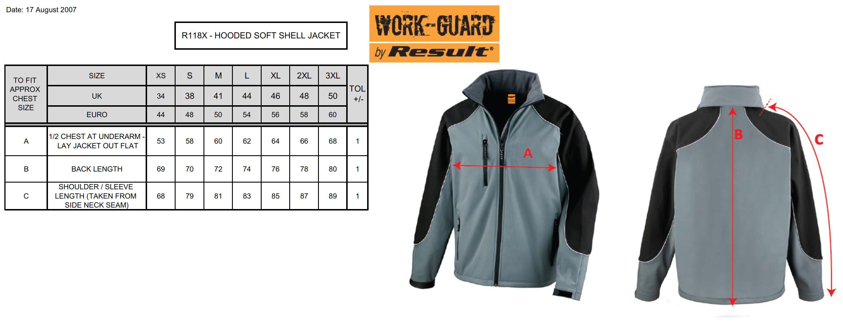 Result: Ice Fell Hooded Softshell Jacket RX118