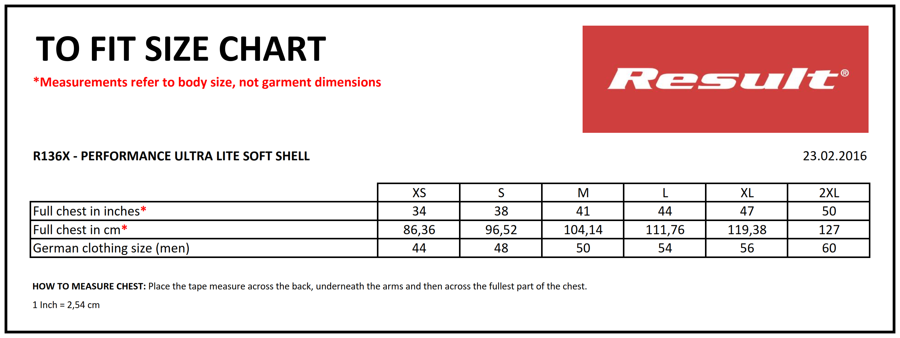 Result: Performance Ultra Lite Soft Shell R136X