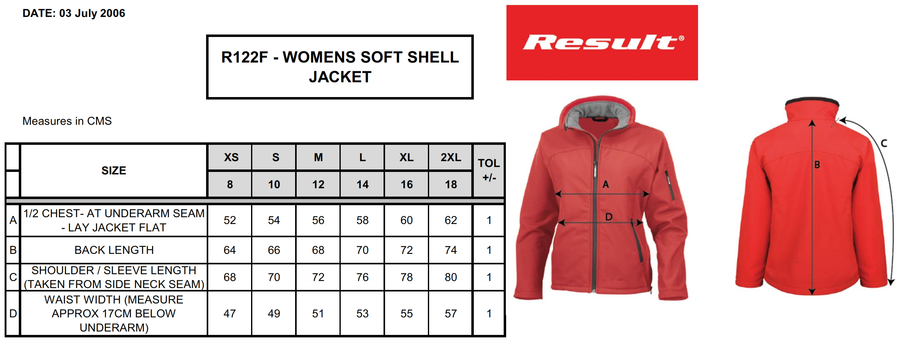 Result: Ladies` Soft Shell Jacket R122F