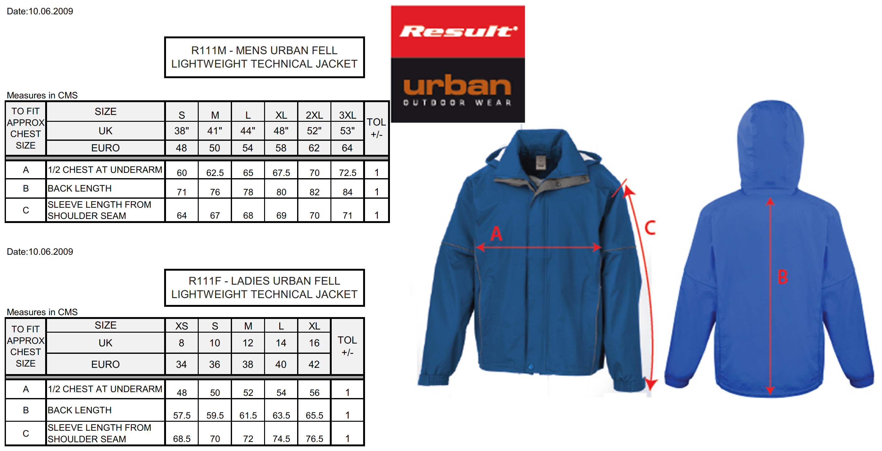 Result: Urban Fell Lightweight Jacket R111M