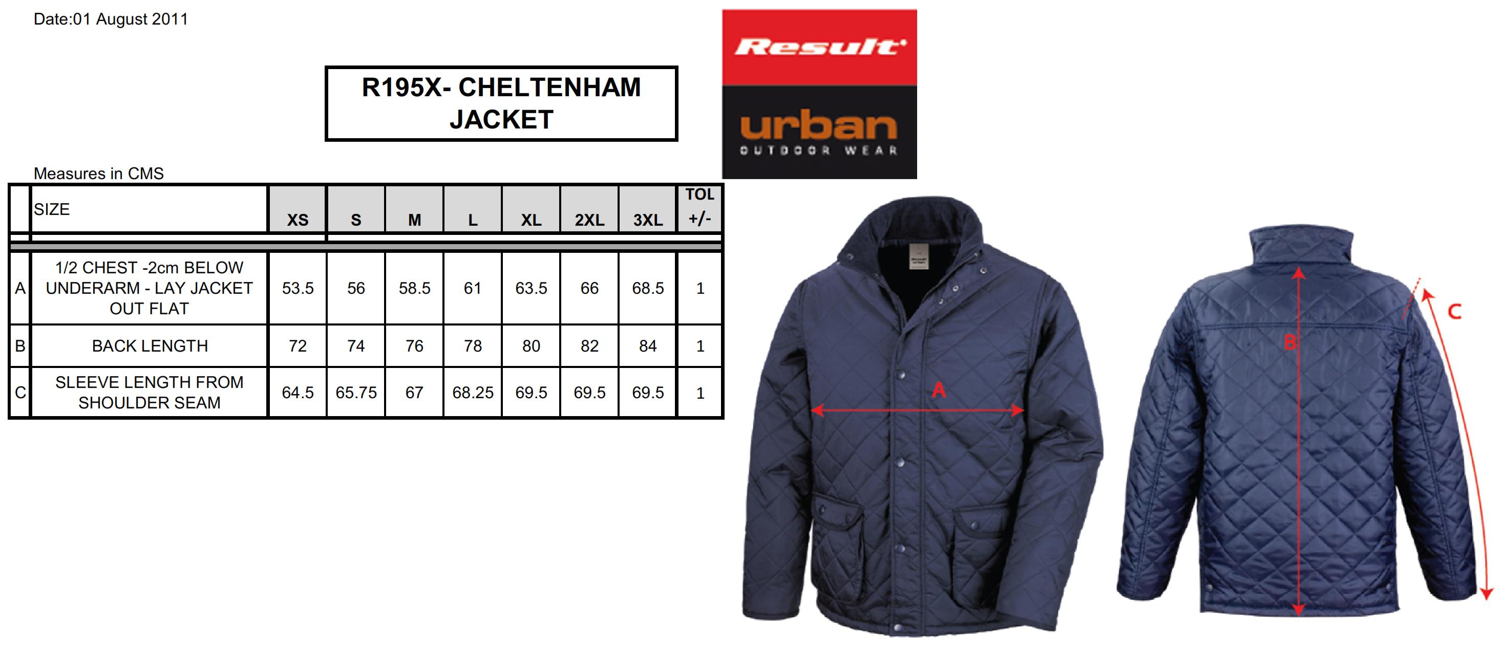Result: Urban Cheltenham Jacket R195X