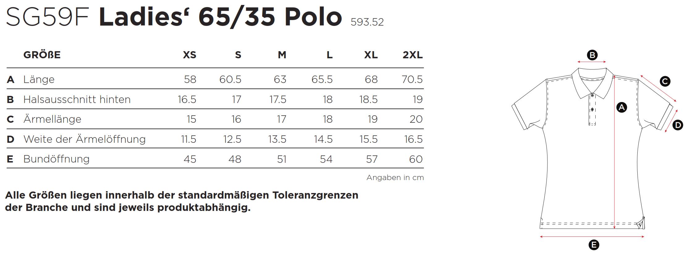 SG: Ladies` Poly Cotton Polo SG59F