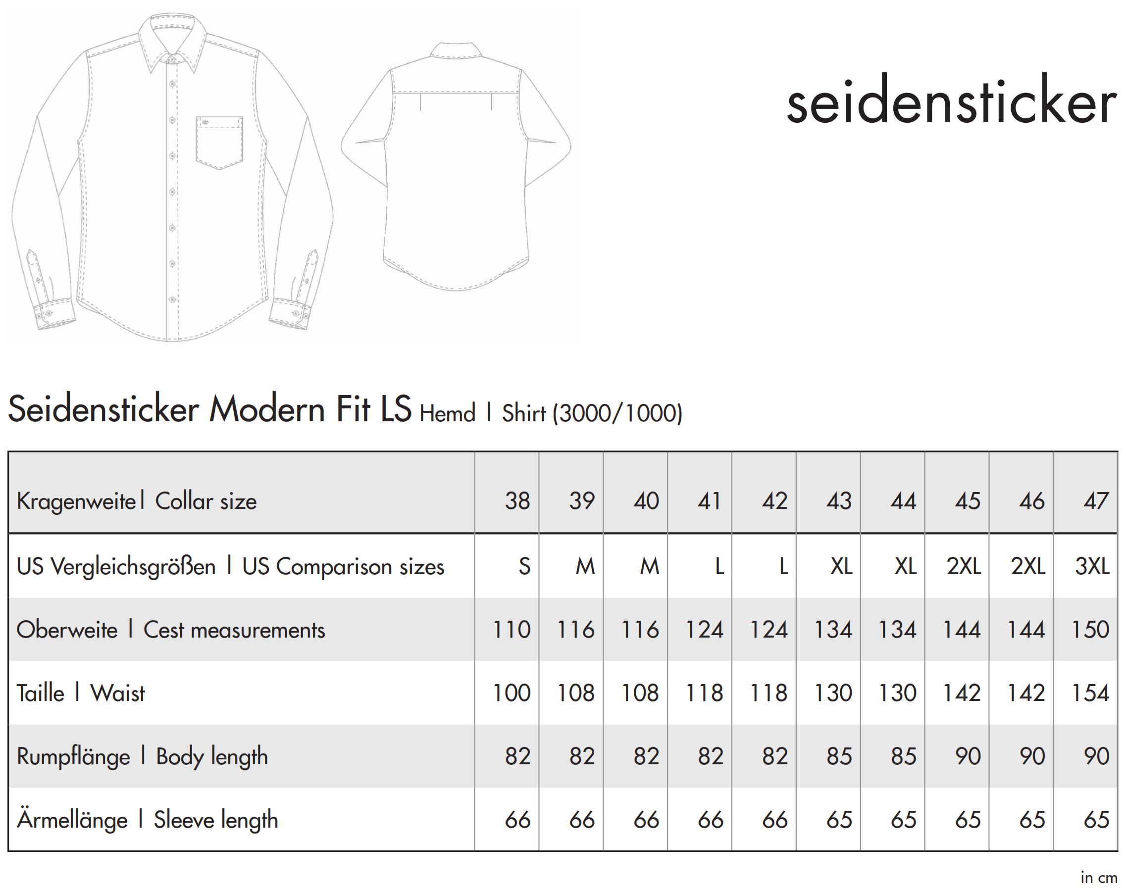 Seidensticker: Regular Fit 1/1 Business Kent 3000/1000