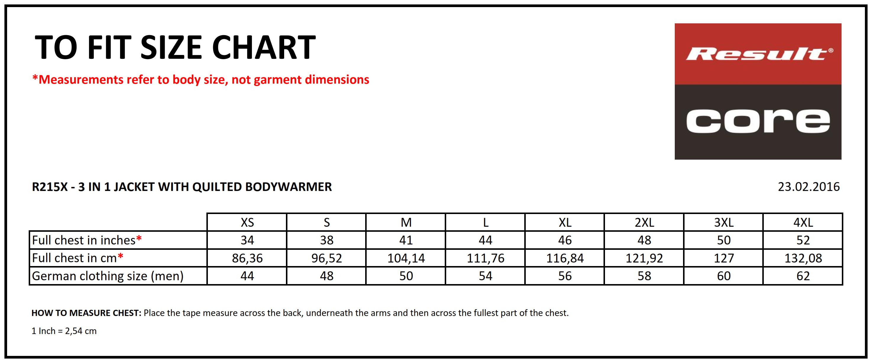 Result: 3-in-1 Jacke mit gestepptem Bodywarmer R215X