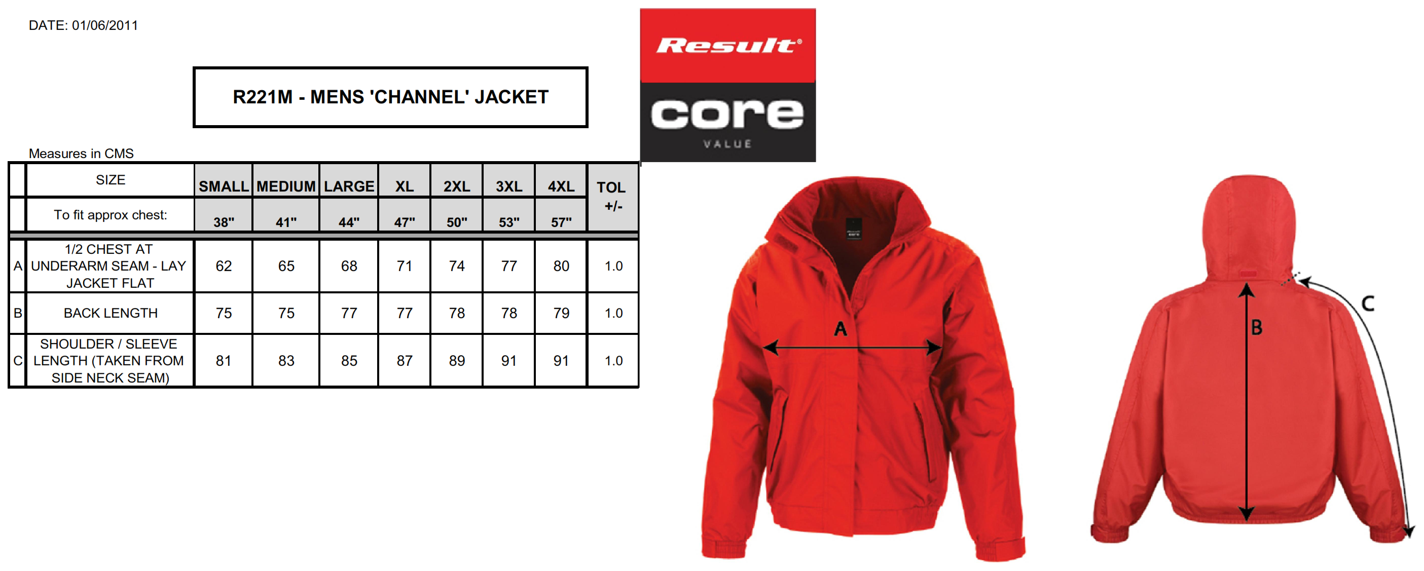 Result: Channel Jacket R221M