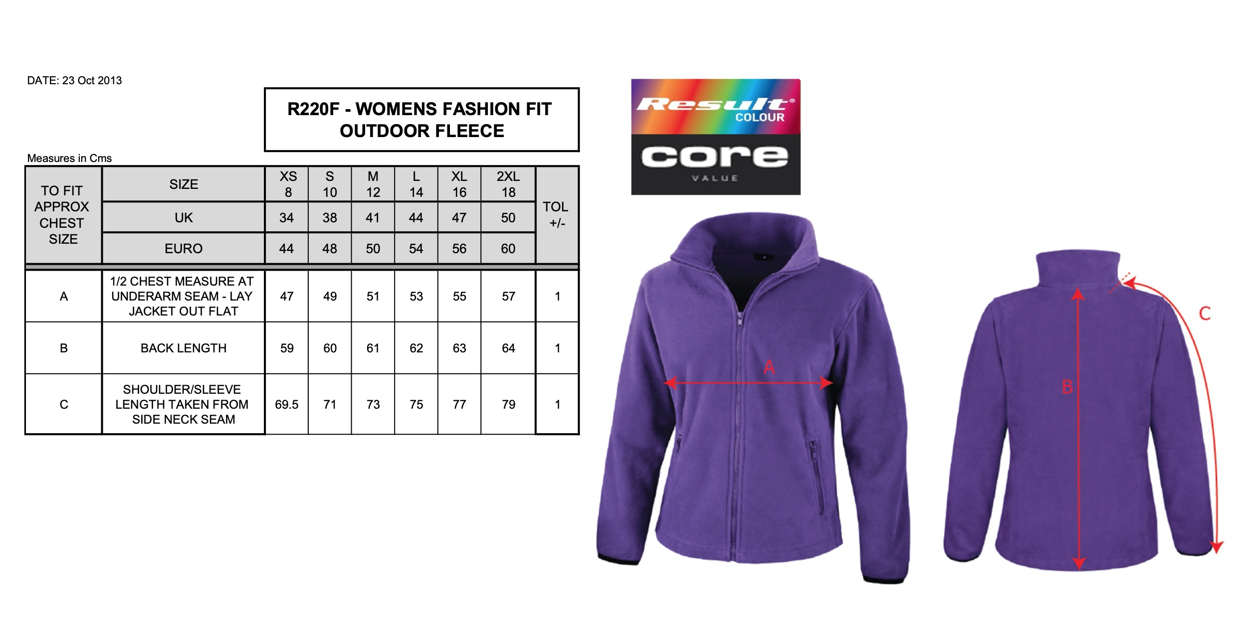Result: Womens Fashion Fit Outdoor Fleece R220F