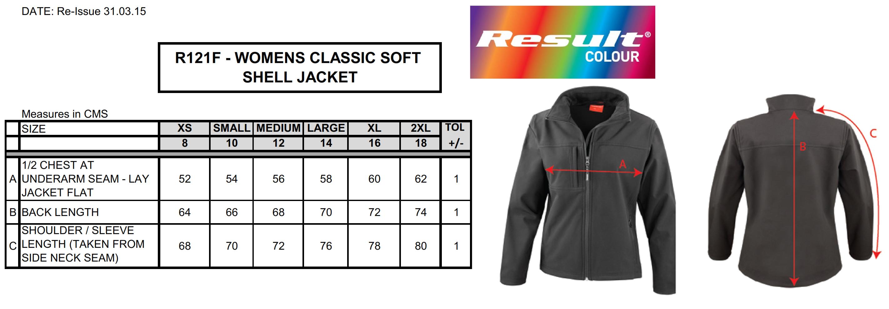 Result: Ladies Classic Softshell Jacket R121F