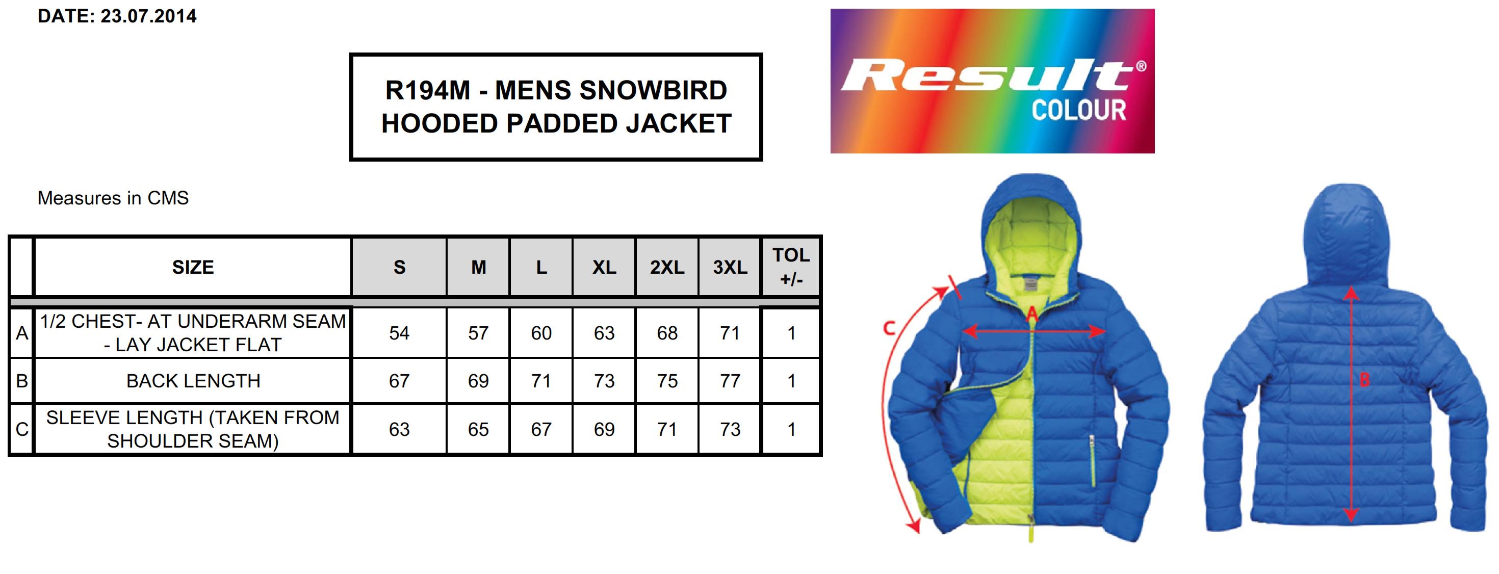 Result: Snow Bird Hooded Jacket R194M