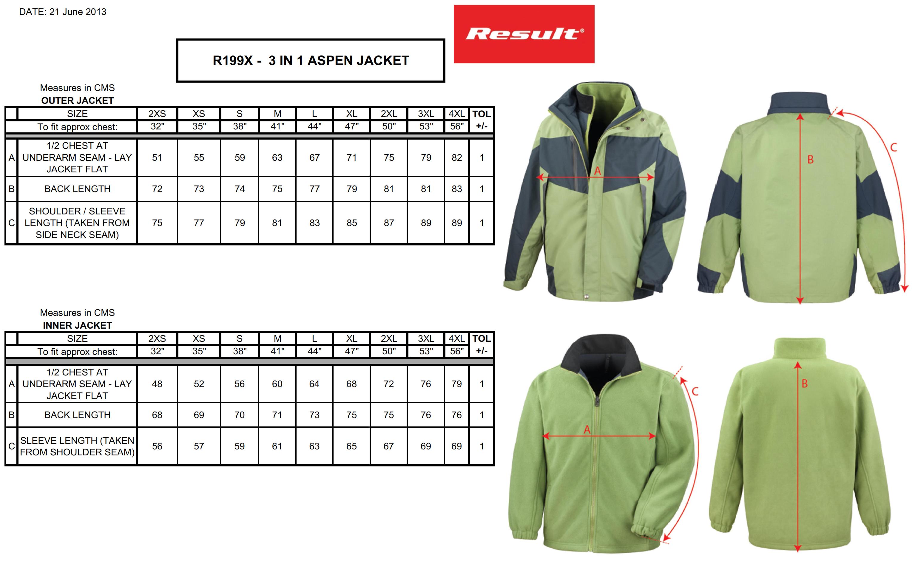 Result: 3-in-1 Aspen Jacket R199X