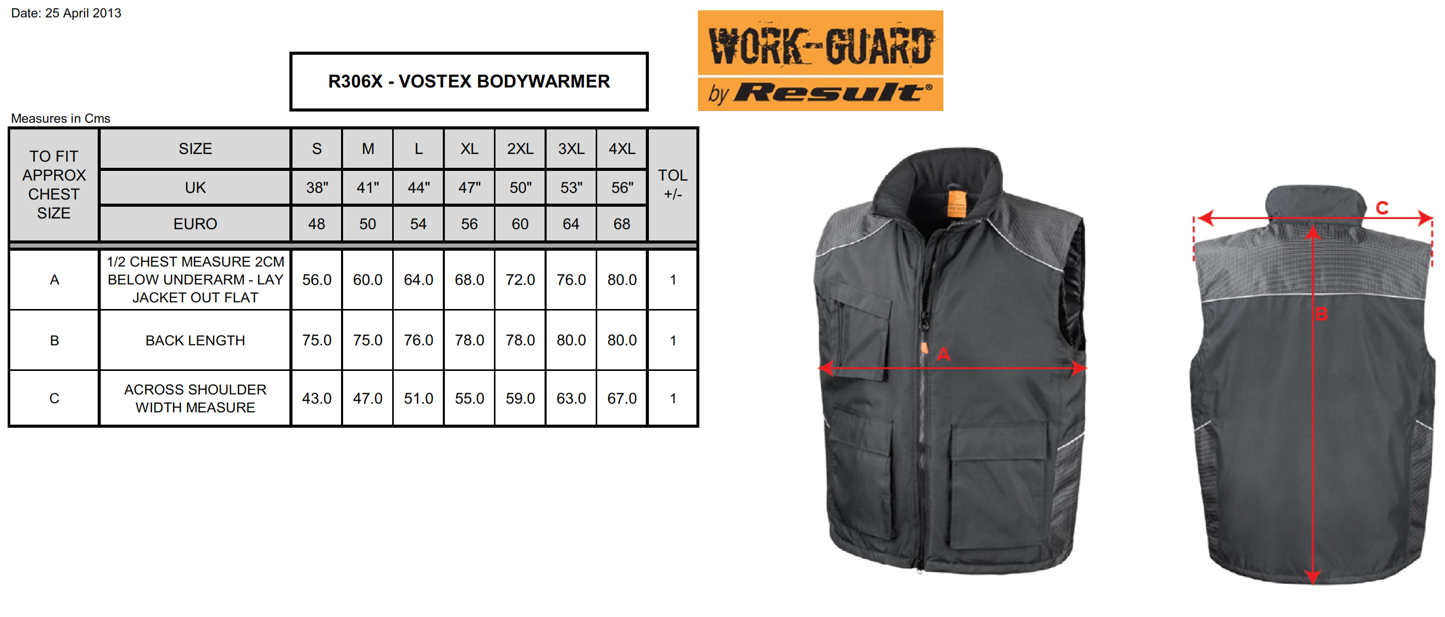 Result: Work-Guard Vostex Bodywarmer R306X