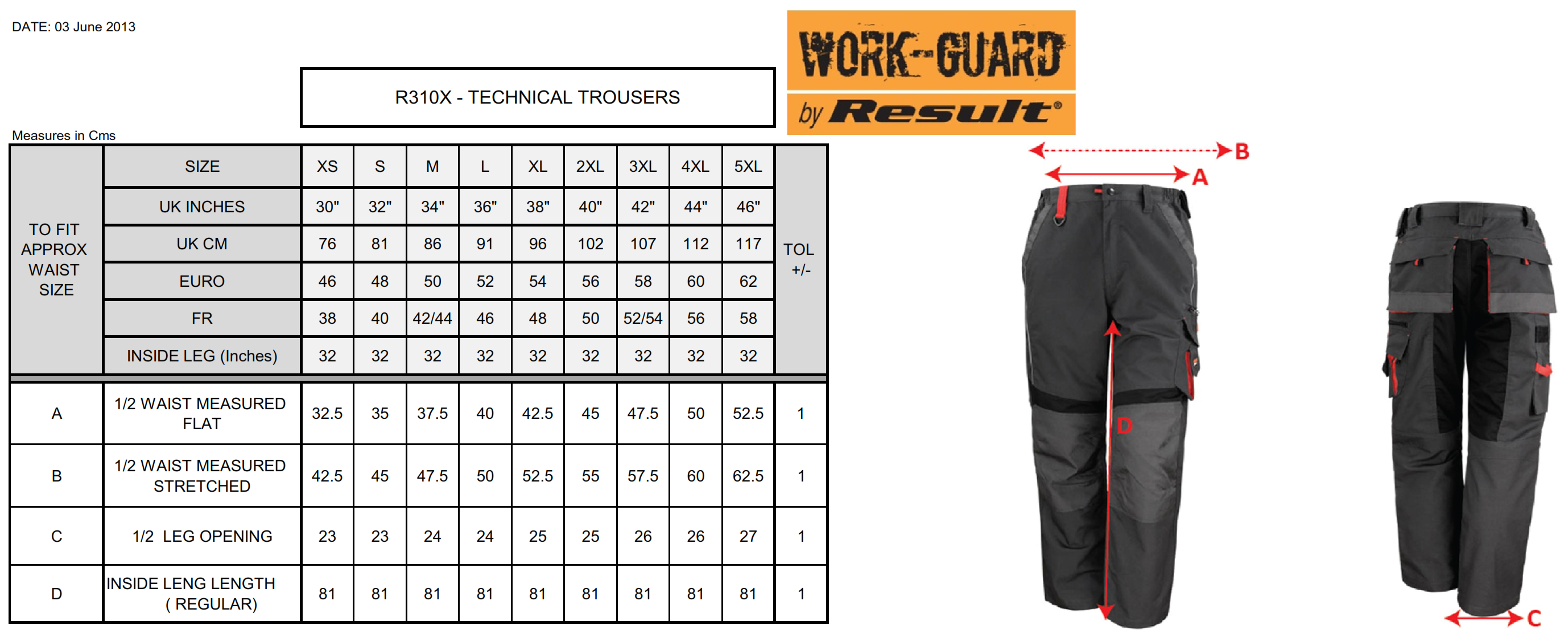 Result: Work-Guard Technical Trouser R310X