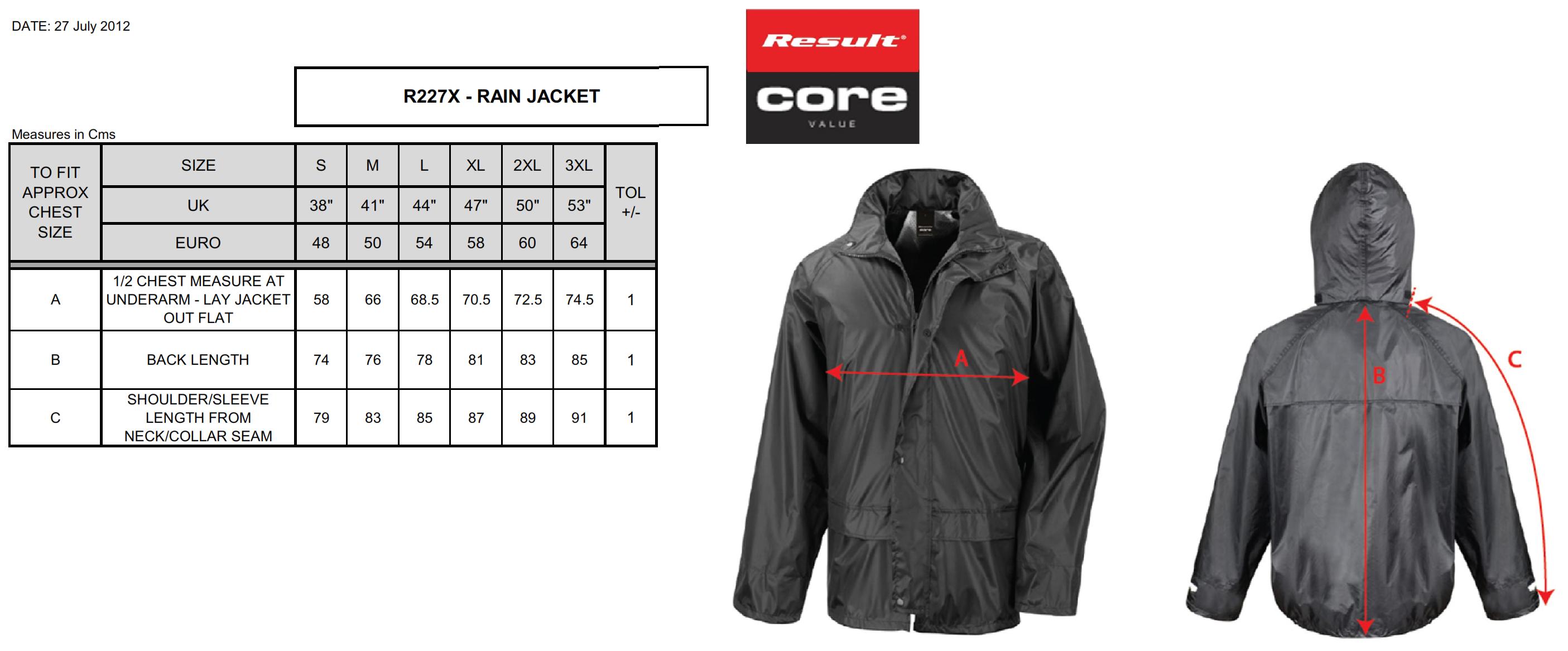 Result: StormDri Jacket R227X