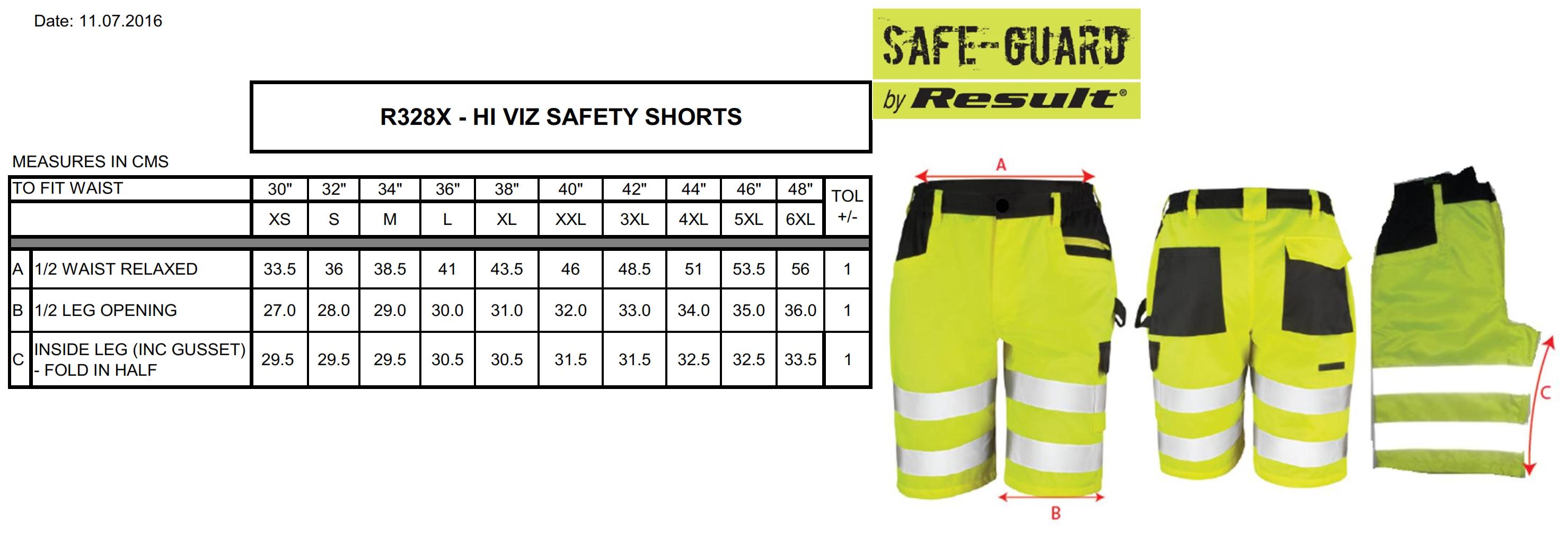 Result: Safety Cargo Shorts R328X