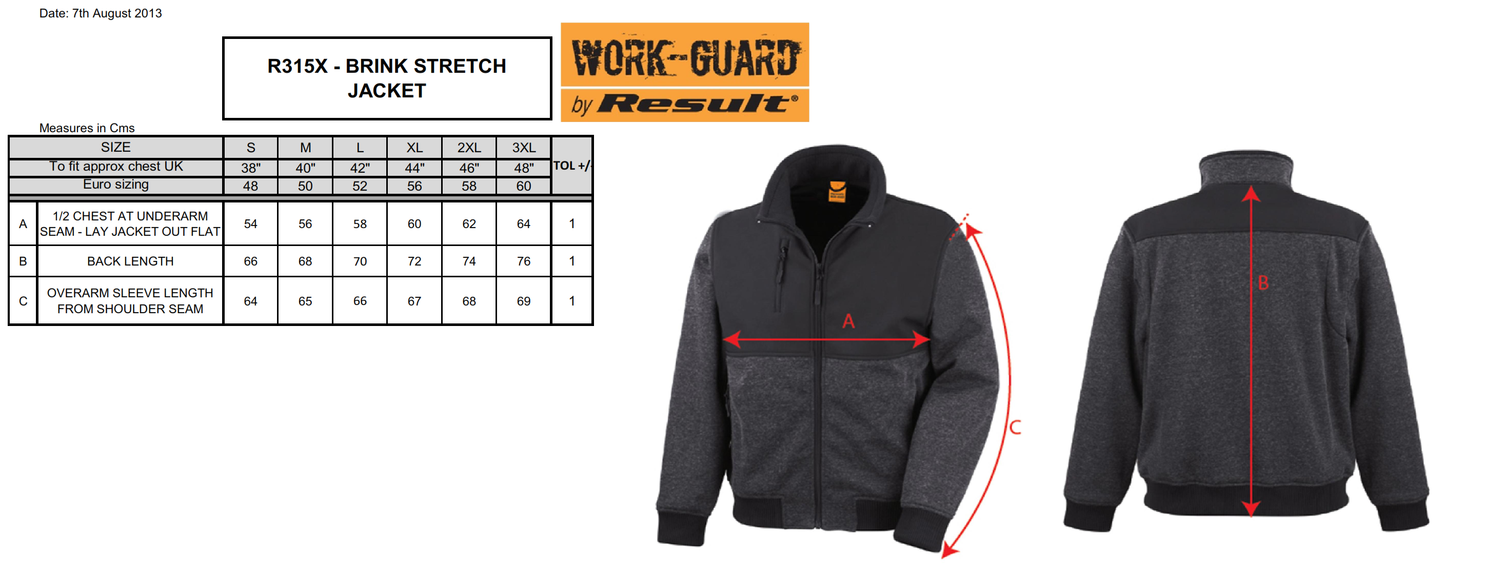 Result: Work-Guard Brink Stretch Jacket R315X