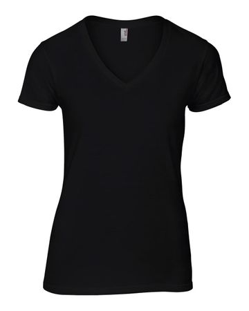 Anvil: Women`s Fashion Basic V-Neck Tee 88VL – Bild 3
