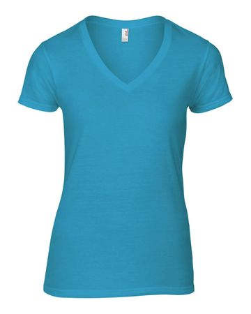 Anvil: Women`s Fashion Basic V-Neck Tee 88VL – Bild 6