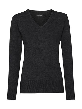 Russell Europe: Ladies` V-Neck Knitted Pullover R-710F-0 – Bild 5