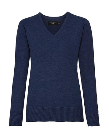 Russell Europe: Ladies` V-Neck Knitted Pullover R-710F-0 – Bild 4