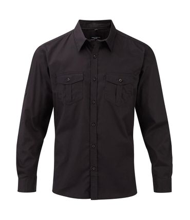 Russell Europe: Men`s Roll Sleeve Shirt LS  R-918M-0 – Bild 3