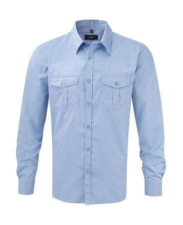 Russell Europe: Men`s Roll Sleeve Shirt LS  R-918M-0 – Bild 6