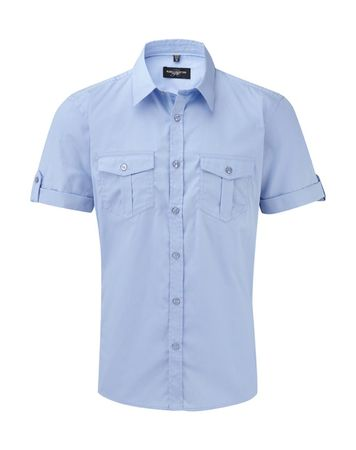 Russell Europe: Men`s Roll Sleeve Shirt R-919M-0 – Bild 6