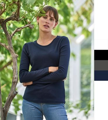 Tee Jays: Ladies LS Interlock T-Shirt 590 – Bild 1