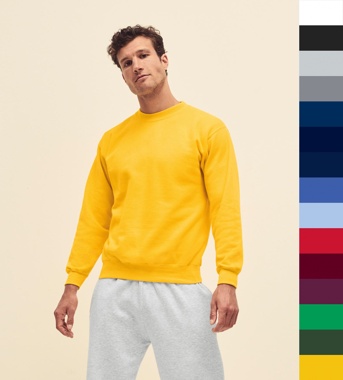 2er Pack Fruit of the Loom Herren Sweatshirts für je 18,99€