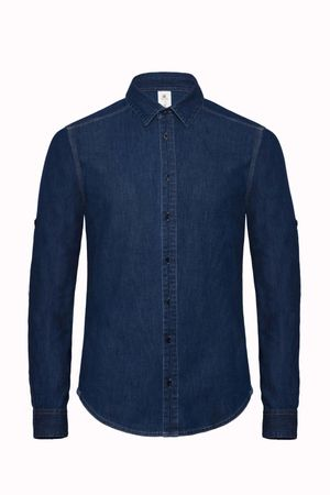 B&C: Denim Shirt LS DNM Vision Men SMD85 – Bild 2