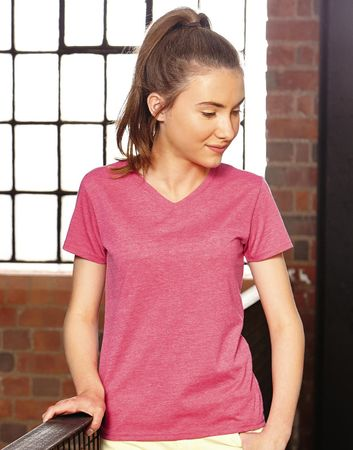Russell Europe: Girls V-Neck HD Tee R-166G-0 – Bild 1